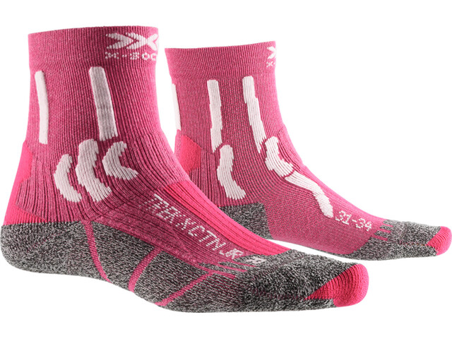 X-Socks Trek X CTN Calcetines Niños, flamingo pink/arctic white
